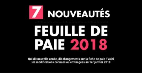 Feuille de paie 2018 : 7 nouveautés