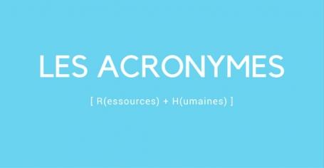 Les acronymes RH