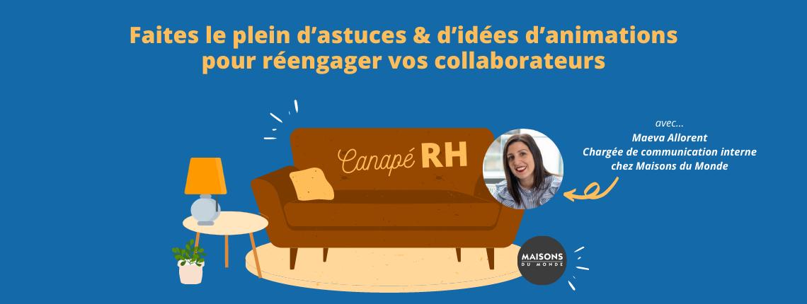 illustration prochain canapé RH idées astuces et animations pour réengager ses collaborateurs