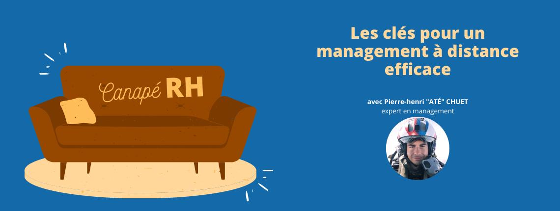 Canapé RH sur lequel se déroule le webinar sur le management à distance