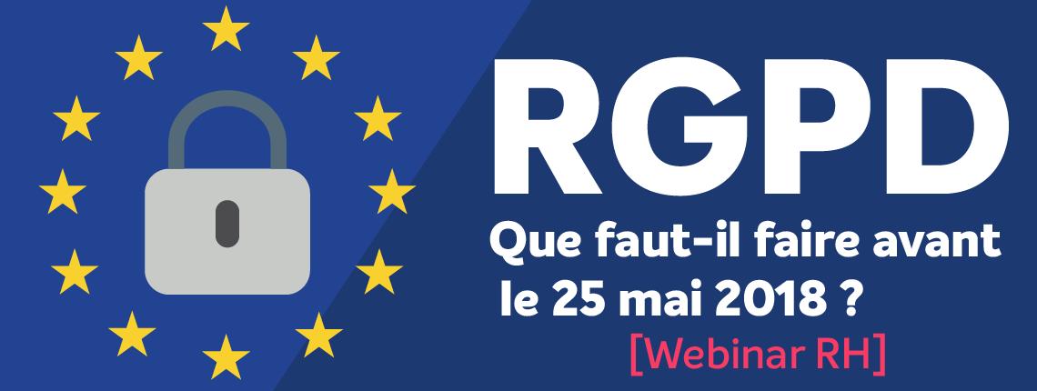Webinar RH : la RGPD et les RH