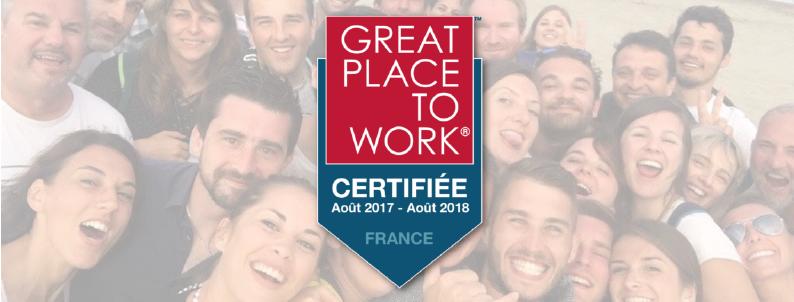 Eurécia : entreprise certifiée Great place to work