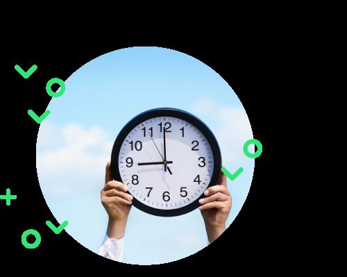 Ilustration de la gestion du temps de travail facilité par Eurécia