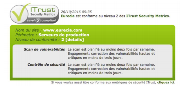 Certification itrust Eurécia