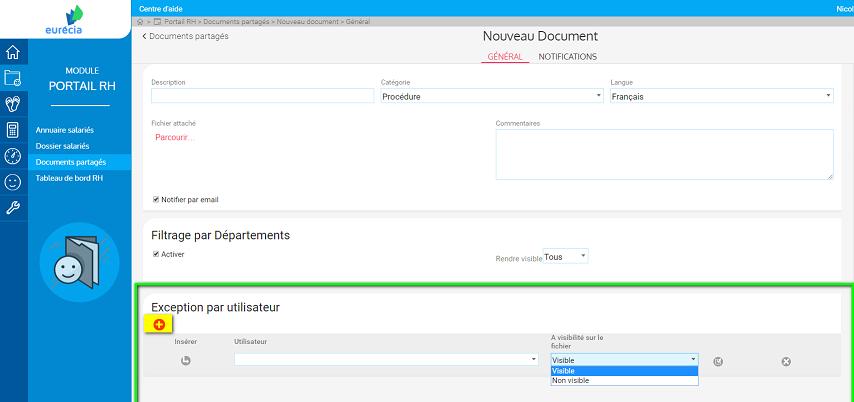 screenshot restreindre la visibilite des documents rh 2
