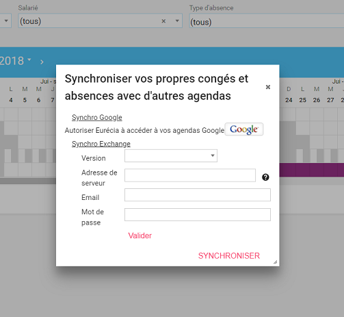 screenshot synchronisation google outlook 2