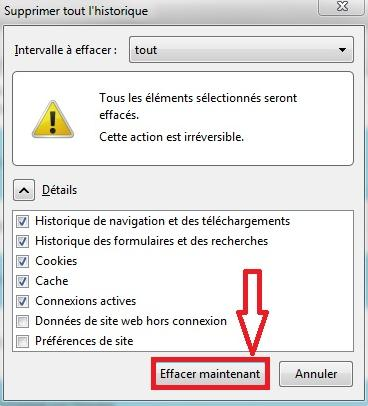 Suppression historique Mozilla